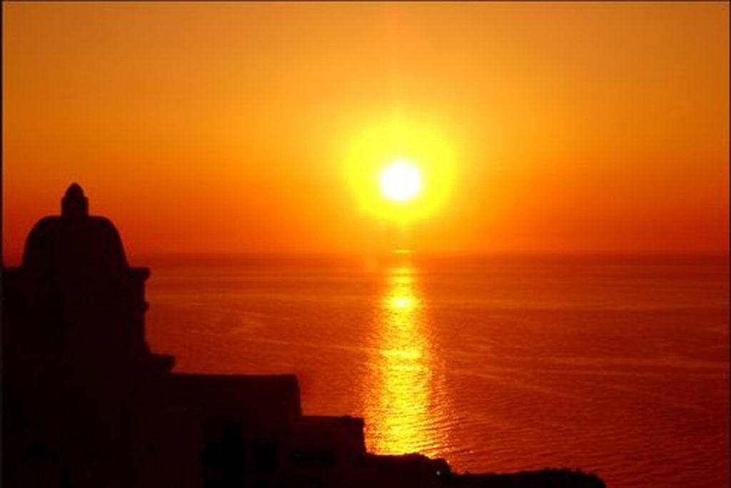 Sunset by the sea in Sharm al-Sheikh, Egypt
