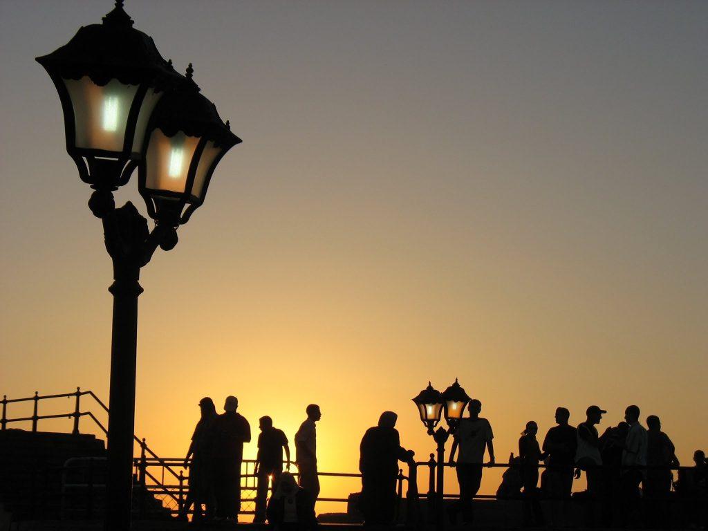 Vista panoramica nocturna en Alejandria